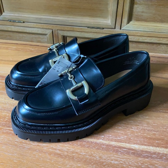 H&M chunky loafers, NWT, black, size 7/38.